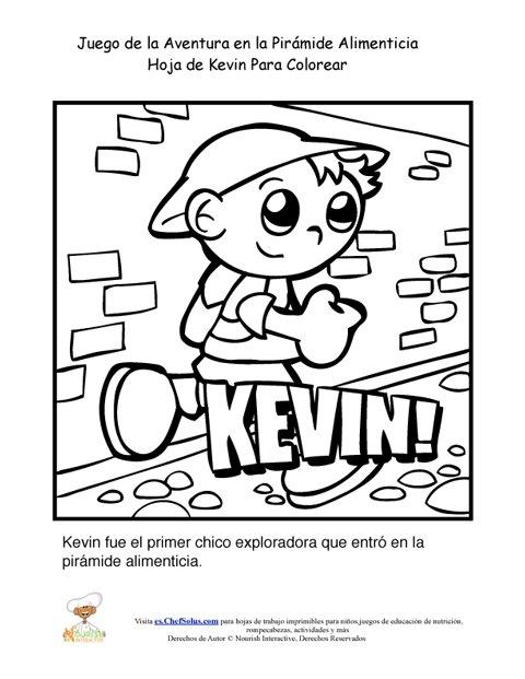 Página Para Colorear de Kevin Niño Explorador del Juego de la ...