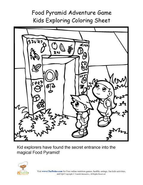the red pyramid coloring pages - photo#24