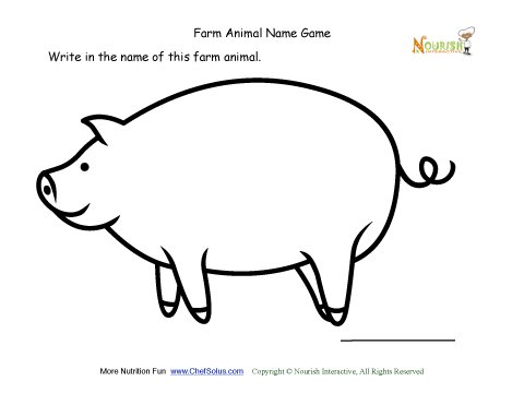 Farm Animal Name Game - Writing activity for young writers