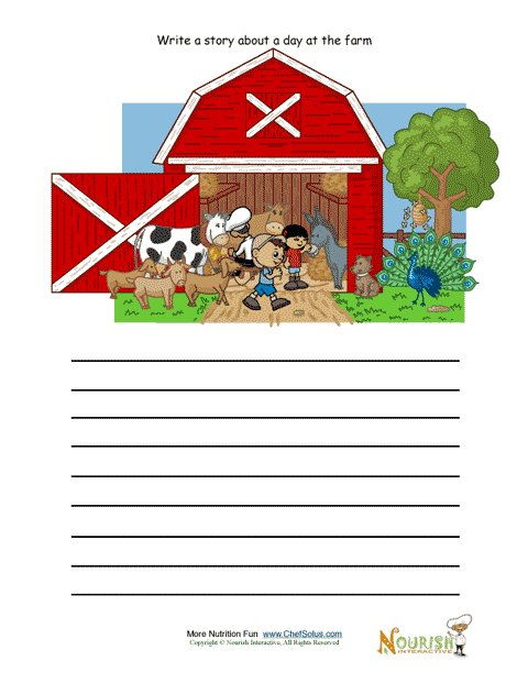 Creative Writing Activity For Elementary School Children Farm