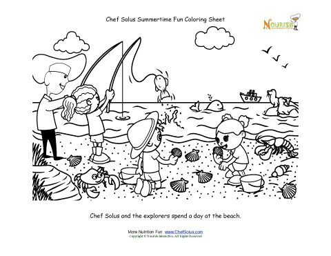 Chef Solus Summertime Fun Coloring