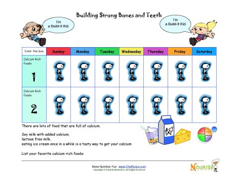 Building Strong Bones and Teeth - Printable Calcium ...
