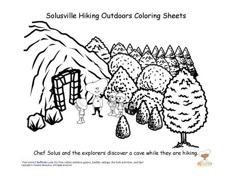 Chef Solus Be Active Hiking Coloring Sheet