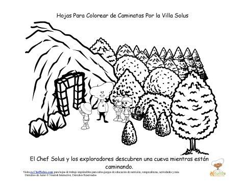 Hoja Para Colorear del Chef Solus De Ser Activo Caminando
