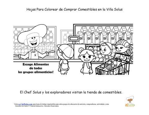 Hoja Para Colorear del Chef Solus De Diversión en la Tienda de ...