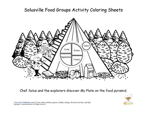 Chef Solus Food Group Coloring Sheet