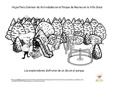 Hoja Para Colorear Del Chef Solus Del Parque Villa Solus