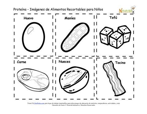 Recortables Imprimibles de Tarjetas de Memoria de Alimentos de ...