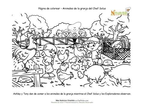 Página de Actividad Para Colorear de Los Animales de Granja Para Los ...