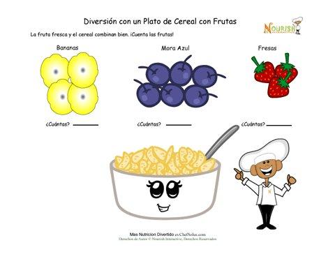 Diversión con las Matemáticas de los Cereales y Frutas Para los ...