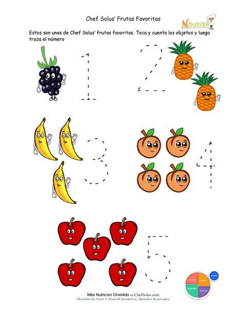 715 Grupo Frutas Preescolar Numeros Contar Actividad on Groups Of 10 Prek