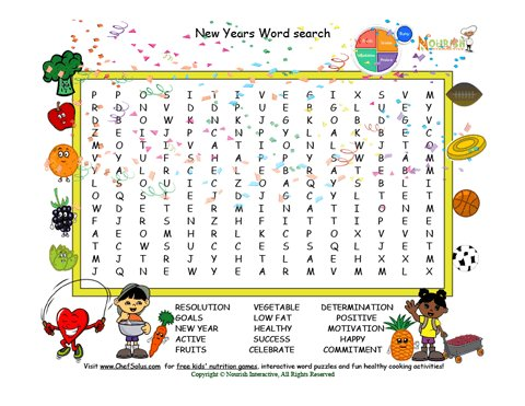 photo relating to New Years Word Search Printable referred to as Getaway 1 Fresh Calendar year Phrase Look