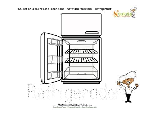 Hoja de trabajo para calcar de educaci n preescolar hoja for Como ubicar la heladera en la cocina