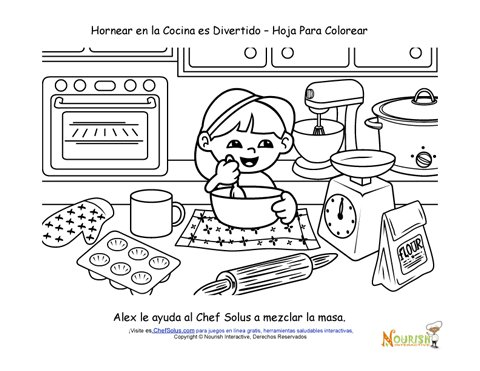 coloring pages food and cooking - photo#29