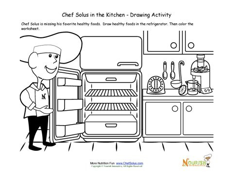 Cooking with Kids Drawing Kitchen Drawing For Kids
