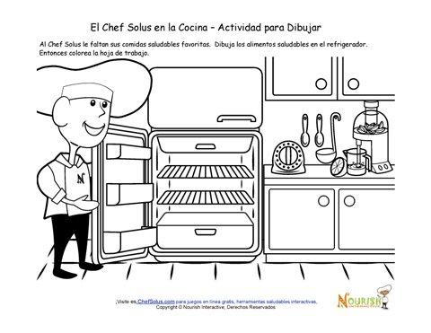 Cocinar con los Niños - Página de Actividad Para Niños Para Dibujar ...