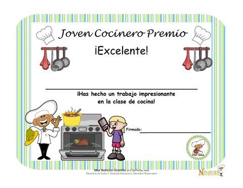 Premio de Cocina Chef Juvenil Para Niños