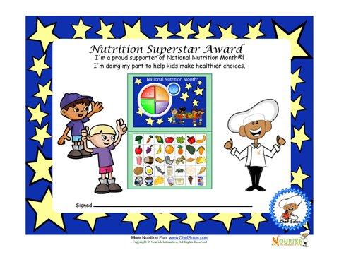 National Nutrition Month Award For Children