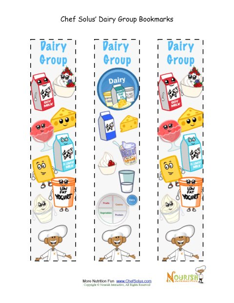 Dairy Food Group Clip Art Bookmark Food Group Dairy