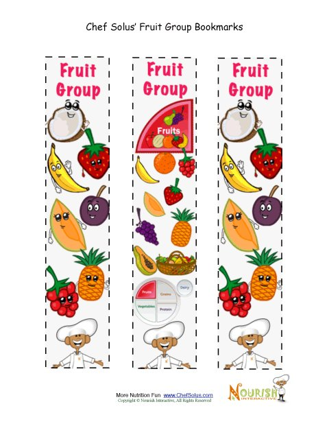 Bookmark Food Group Fruit Chef Solus Activity