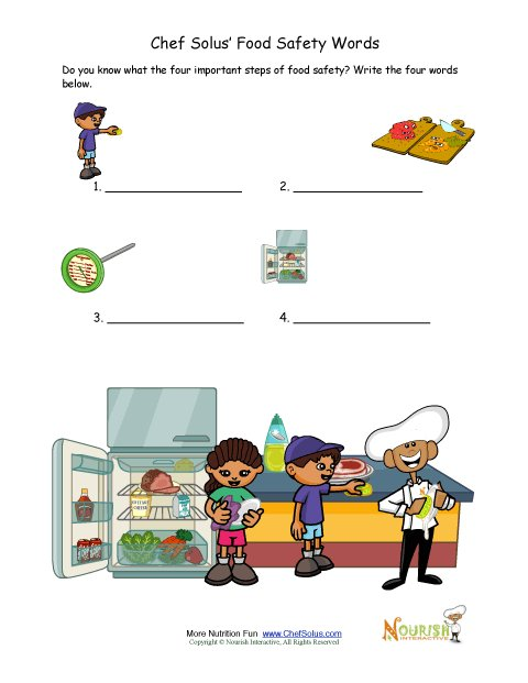 Printables Food Safety Worksheets food safety test your knowledge worksheet for kids