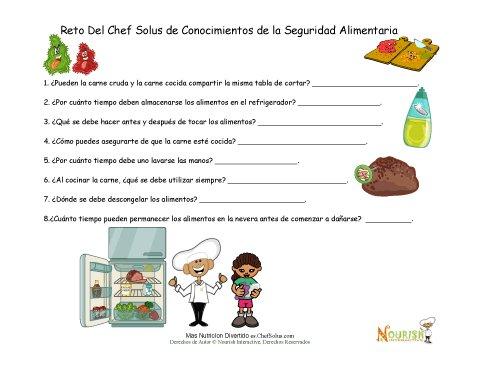 Seguridad Alimentaria - Hoja de Trabajo Para Niños Para Poner a ...