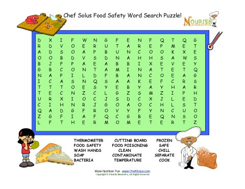 Grill+Food+Word+Search+Puzzle Food Safety Word Search Puzzle For Kids ...