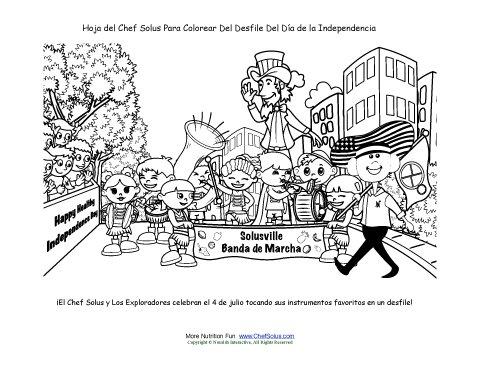 Chef Solus Página Para Colorear del Desfile Día de la Independencia ...