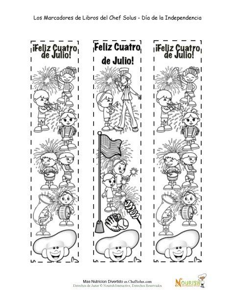 Día Festivo 9 Página de Colorear de Marcadores de Libros Para el Día ...