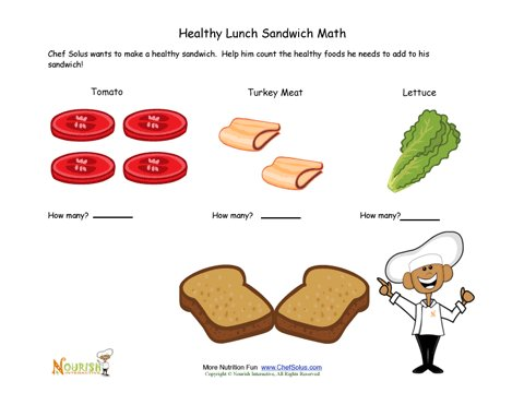 Sandwich Math Fun For Children Learning To Count