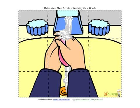 photo regarding Make Your Own Jigsaw Puzzle Printable named Washing Your Fingers - Create Your Private Jigsaw Puzzle For Young children
