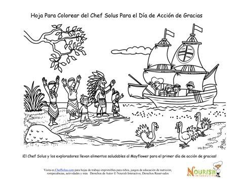Página Para Colorear Del Chef Solus Del Primer Día de Acción de Gracias