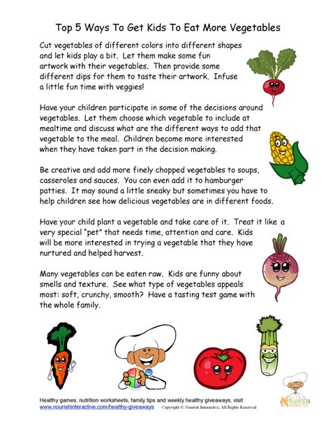 five creative ways to increase children vegetable intake safety in the kitchen ppt safety in the kitchen games