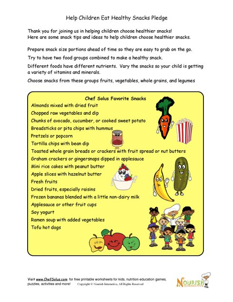 photo relating to Free Printable Patient Education Handouts titled Nutritious Treats For Little ones Parenting Pointers Handout