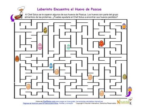 Fiestas 5 El Laberinto De Huevos De Pascua Para Niños - Un Alimento ...