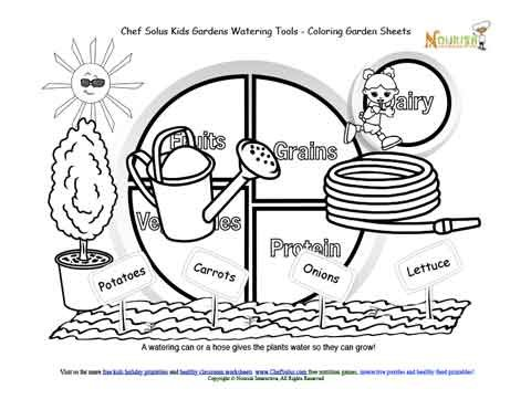 kids gardening tools coloring pages - photo#10