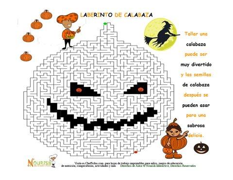 Día de Fiestas 10 Imprimible Para Niños del Laberinto de Calabazas