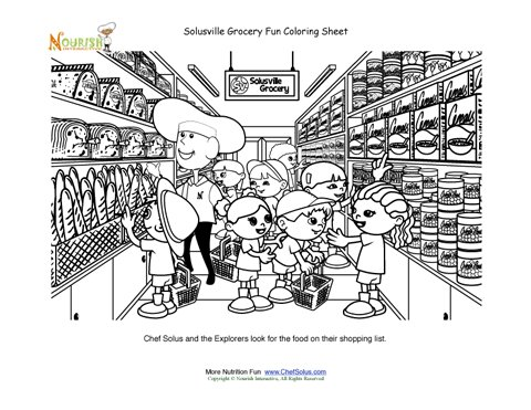 grocery store coloring pages - photo#15