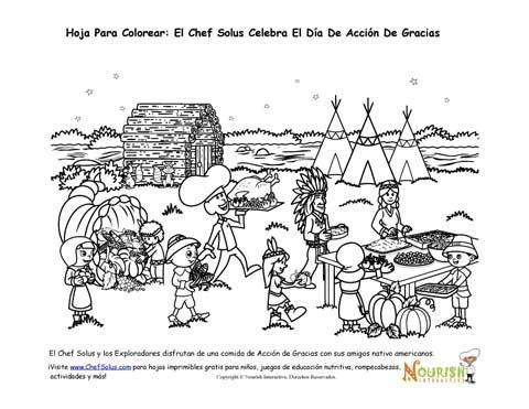Días Festivos 11 Hoja Para Colorear - El Chef Solus Celebra El Día ...