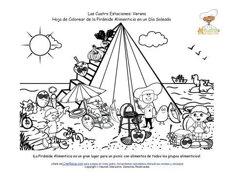 Página de Colorear de MiPirámide Para el Verano