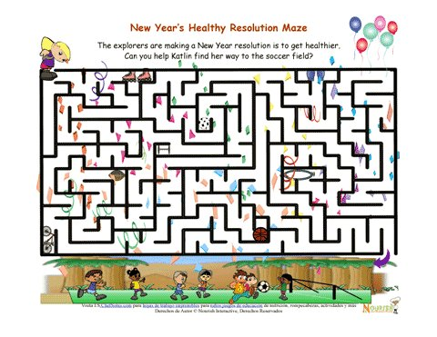 holiday 1 new years healthy resolution maze for children