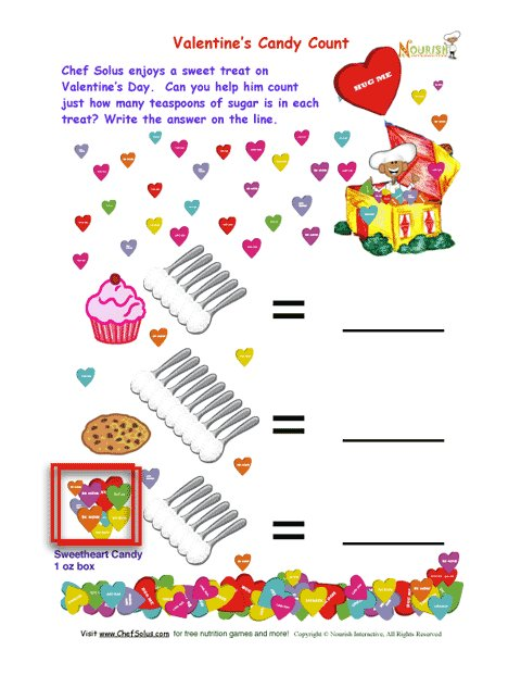 Holiday 2 Valentines Day Candy Sugar Count