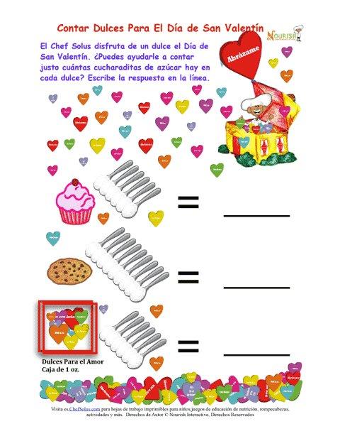 Fiestas 2 Contar El Azúcar De Los Dulces Del Día De San Valentín