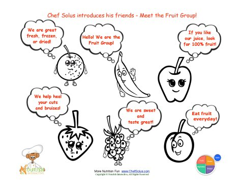 Fruit Food Groups Learning Sheet
