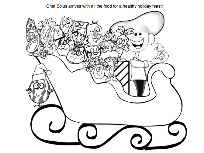 Holiday Sleigh Coloring Page For Kids