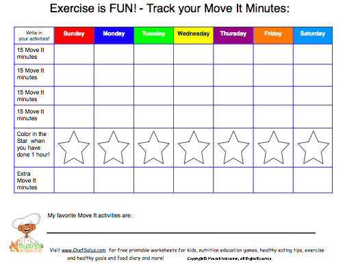 Ring in the New Year with healthy steps tips for setting healthy – Goal Setting Worksheet for Kids