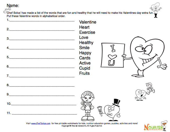 New Healthy Heart Valentine Printables for Kids- Fun Activities and ...