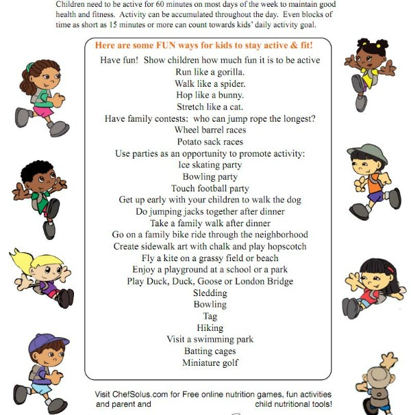 Kitchen Safety For Kids Worksheets: Happy And Healthy Summer Tips