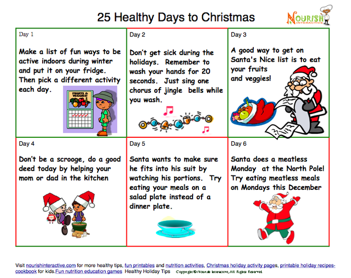 New Healthy Tips Calendars for December and Countdown to Christmas ...
