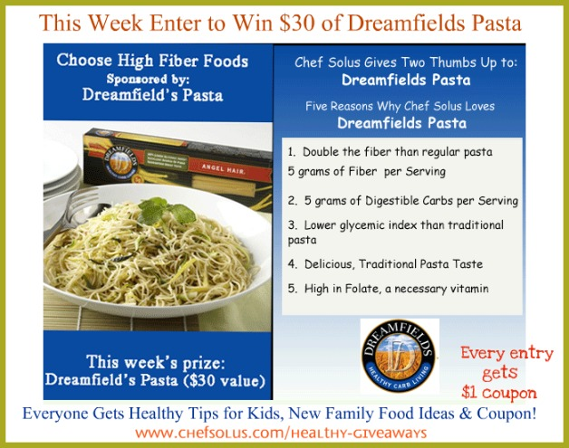 make a healthy goal enter to win healthy pasta